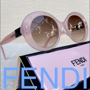 💯 FENDI 52mm PEEKABOO oval sunglasses pink
